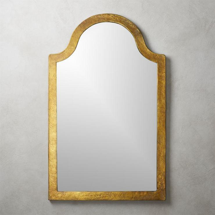 Inspiration about Palmetto Arched Brass Aluminum Wall Mirror Within Gold Arch Wall Mirrors (#12 of 20)
