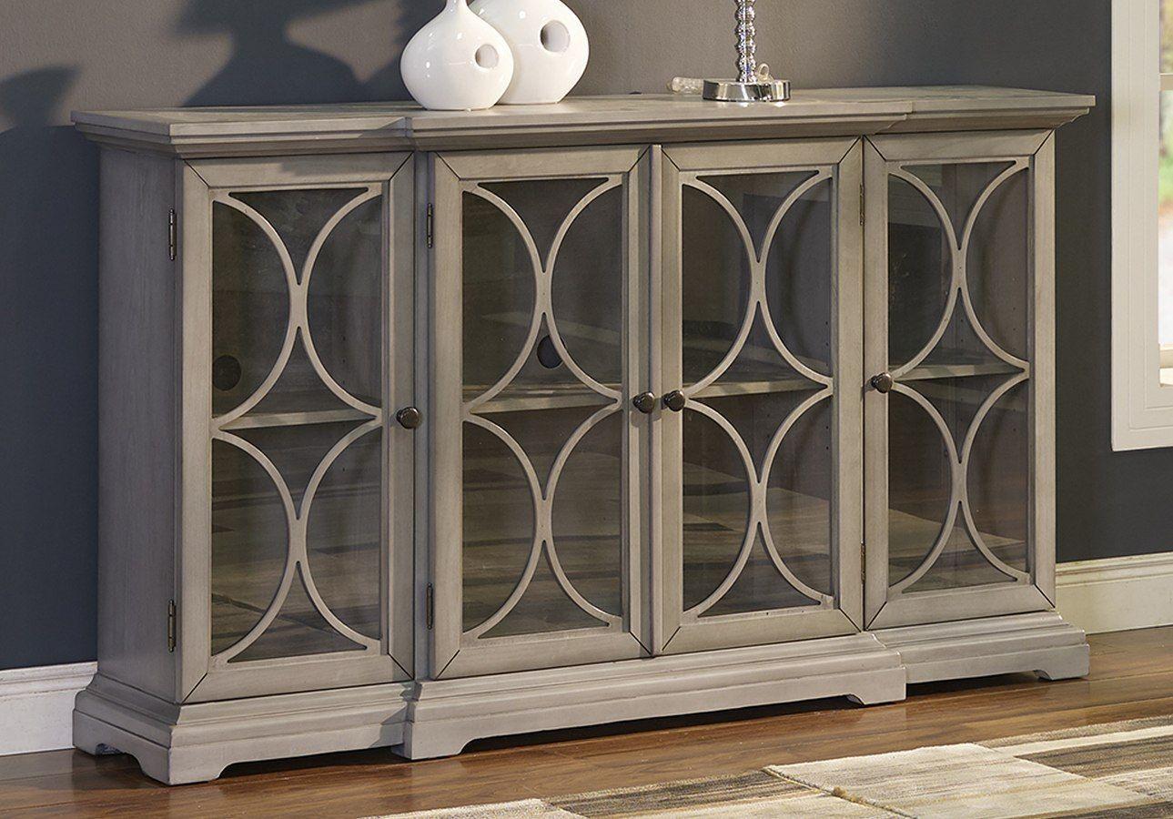 Paradiso Credenza W/ 4 Doors | Furniture | New Classic Regarding Most Current Elyza Credenzas (#13 of 20)