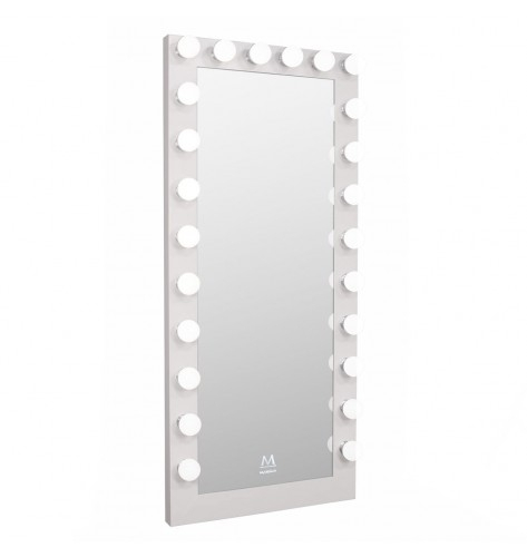 Inspiration about Paramount Full Length Hollywood Makeup Led Vanity Mirror In White Pertaining To Vanity Mirrors (#12 of 20)