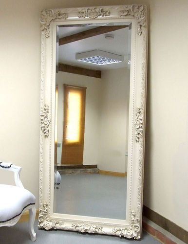 Paris Antique Baroque Rococo Full Length Wall Leaner Mirror With Regard To Boyers Wall Mirrors (#18 of 20)