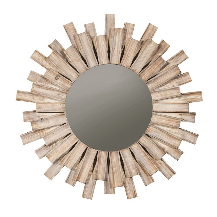 Inspiration about Perillo Burst Wood Accent Mirror In Wood Accent Mirrors (#15 of 20)