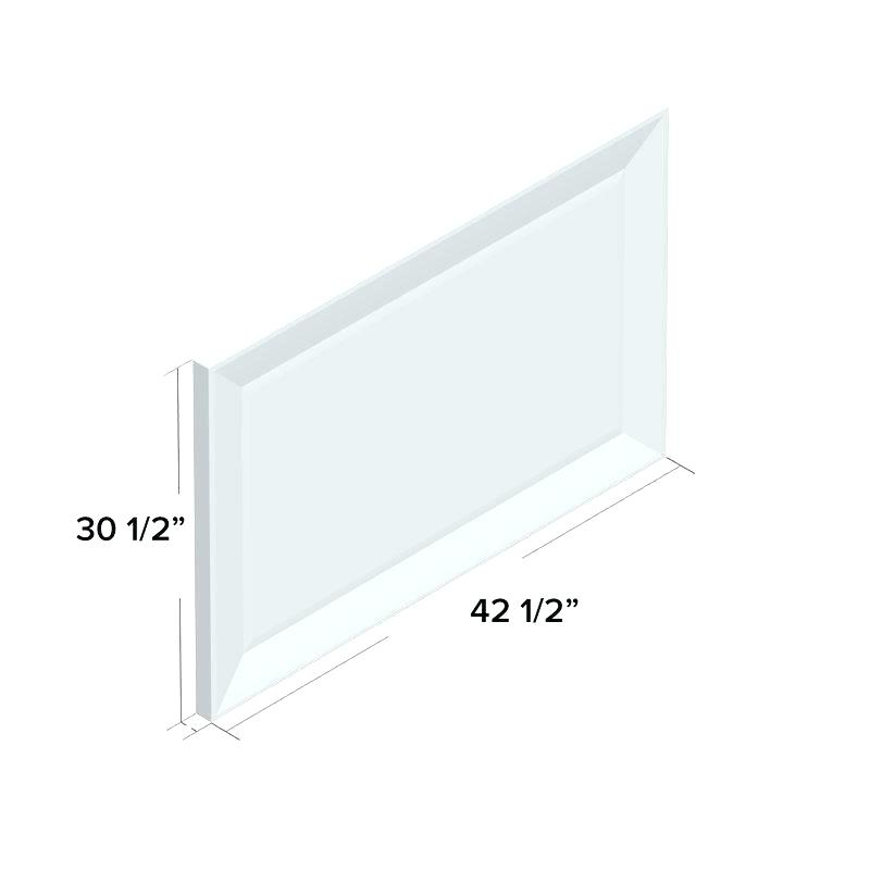 Pewter Framed Wall Mirror Rectangle Beveled Frame Champagne Regarding Rectangle Pewter Beveled Wall Mirrors (#11 of 20)