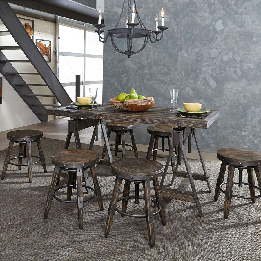 Pineville Adjustable Height Table Set In Most Recent Pineville Dining Sideboards (#16 of 20)