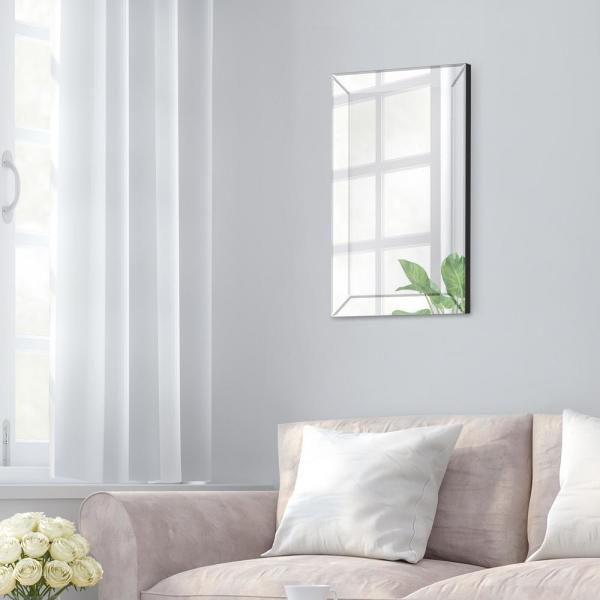 Inspiration about Pinnacle Beveled Accent Rectangular Silver Decorative Mirror With Glam Beveled Accent Mirrors (#20 of 20)