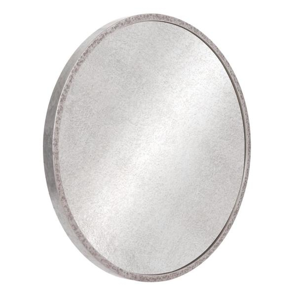 Inspiration about Pinnacle Galvanized Round Galvanized Silver Metal Antiqued For Round Galvanized Metallic Wall Mirrors (#10 of 20)