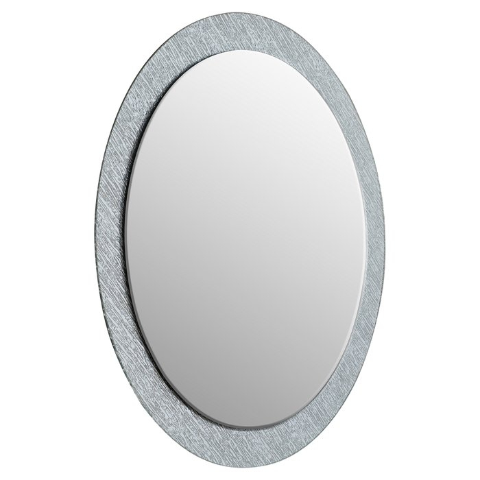 Inspiration about Point Reyes Molten Round Wall Mirror Regarding Sajish Oval Crystal Wall Mirrors (#10 of 20)