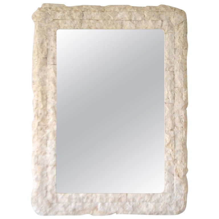 Postmodern Tessellated Wall Mirror | Products In 2019 Intended For Sajish Oval Crystal Wall Mirrors (#7 of 20)