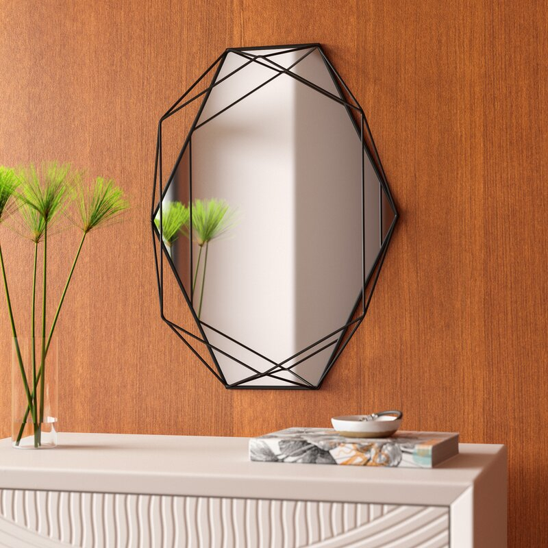 Prisma Modern & Contemporary Accent Mirror Regarding Derick Accent Mirrors (#17 of 20)