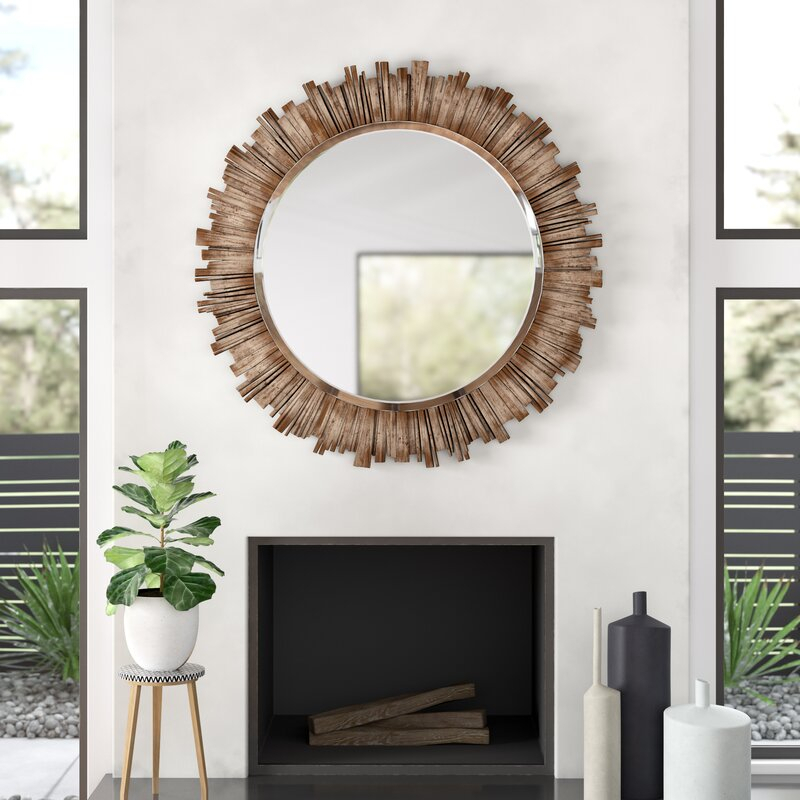 Raleigh Wall Mirror Inside Point Reyes Molten Round Wall Mirrors (#15 of 20)