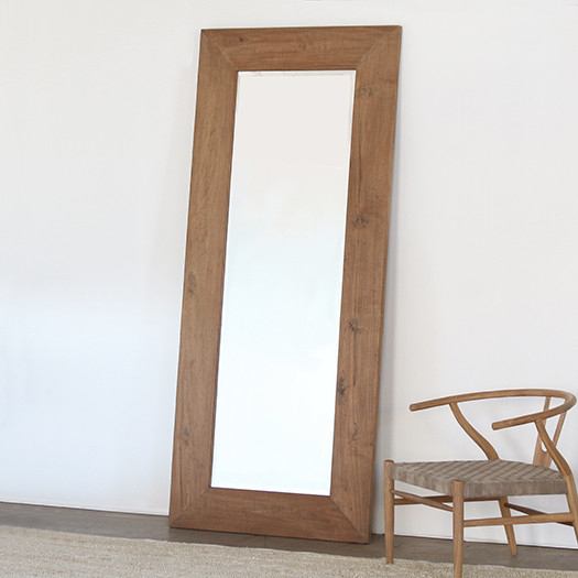 Inspiration about Reclaimed Teak Modern Leaning Mirror Intended For Leaning Mirrors (#20 of 20)