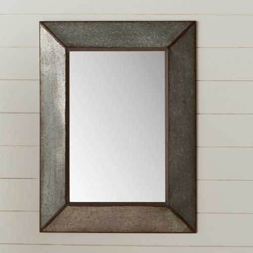Inspiration about Rectangle Antique Galvanized Metal Accent Mirror | Bathroom With Maude Accent Mirrors (#13 of 20)
