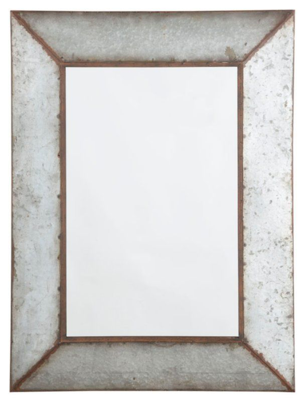 Inspiration about Rectangle Antique Galvanized Metal Accent Mirror In 2019 In Rectangle Antique Galvanized Metal Accent Mirrors (#3 of 20)