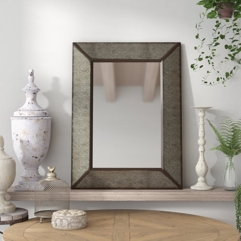 Inspiration about Rectangle Antique Galvanized Metal Accent Mirror Intended For Rectangle Antique Galvanized Metal Accent Mirrors (#2 of 20)