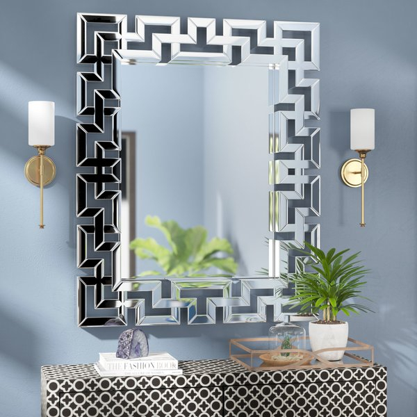 Popular Photo of Rectangle Ornate Geometric Wall Mirrors