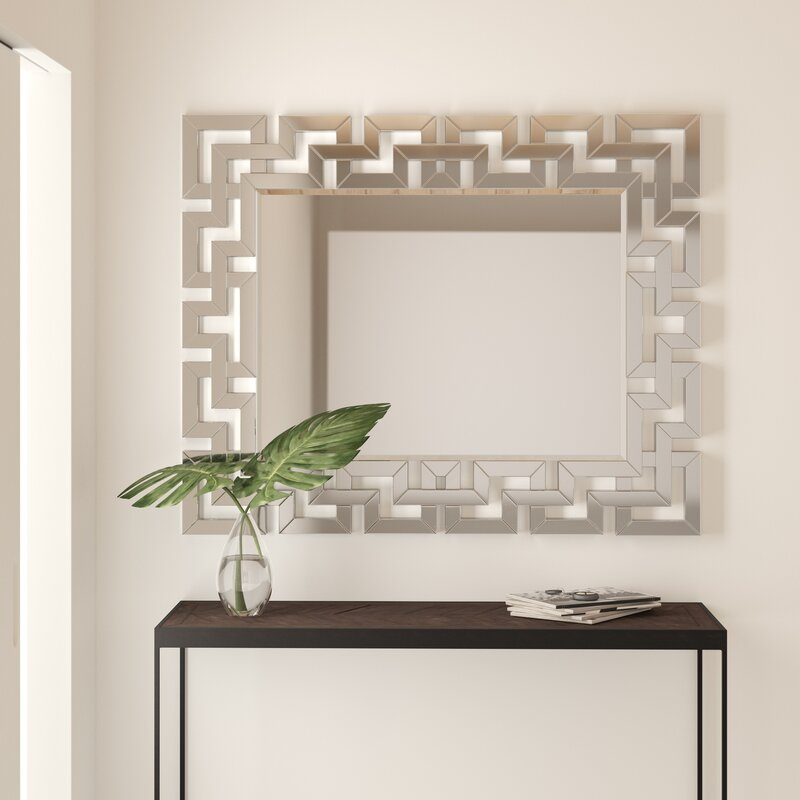 Inspiration about Rectangle Ornate Geometric Wall Mirror Within Rectangle Ornate Geometric Wall Mirrors (#2 of 20)