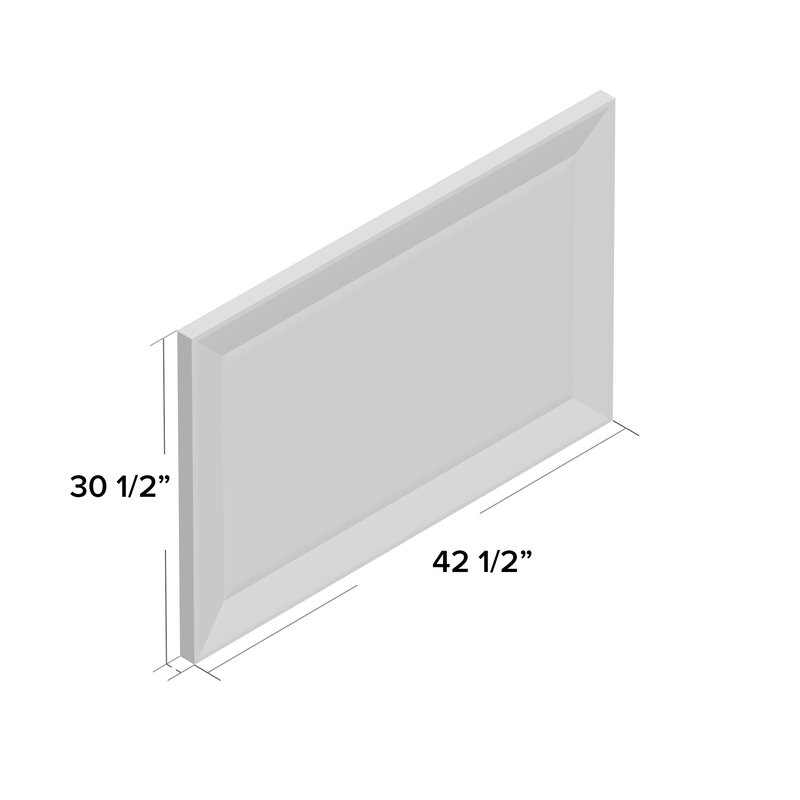 Rectangle Pewter Beveled Wall Mirror Intended For Rectangle Pewter Beveled Wall Mirrors (View 8 of 20)