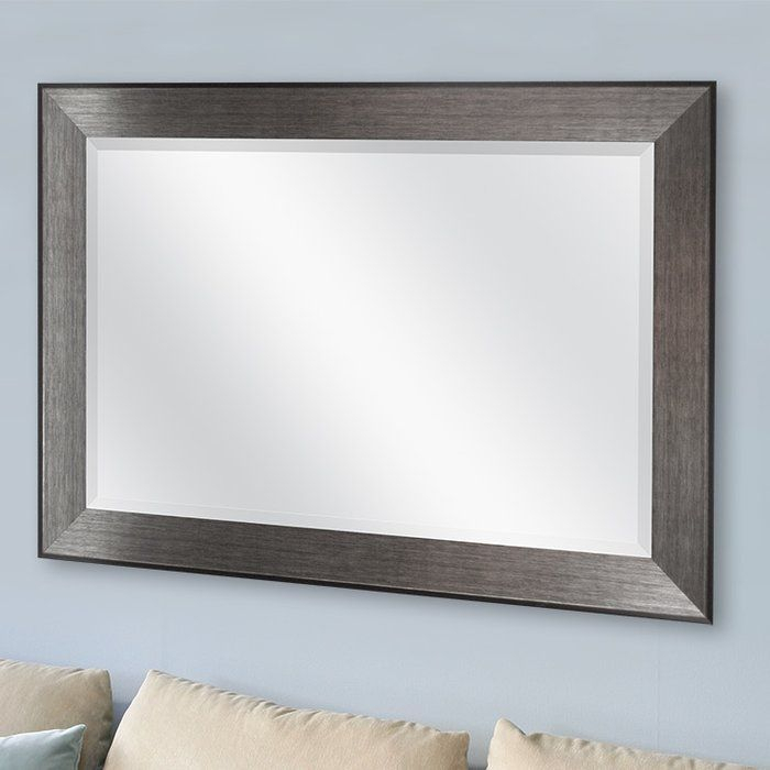 Rectangle Pewter Beveled Wall Mirror | Mirror In 2019 For Rectangle Pewter Beveled Wall Mirrors (View 3 of 20)