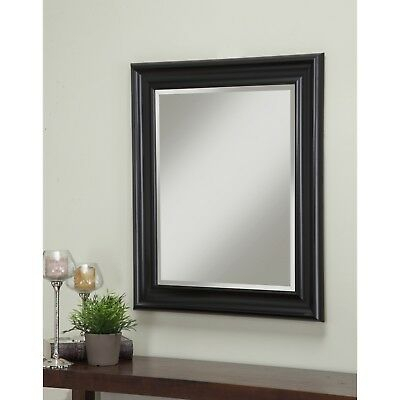 Inspiration about Rectangular Mirror 36 X 30 In Black Plastic Frame Beveled Throughout Rectangle Plastic Beveled Wall Mirrors (#8 of 20)