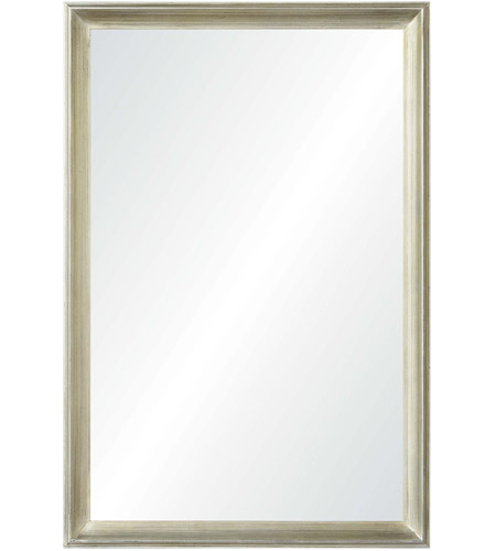 Inspiration about Renwil Mt2084 Gaspar 36 X 24 Inch Champagne Silver Leaf Wall Mirror, Medium  Rectangular Within Swagger Accent Wall Mirrors (#12 of 20)