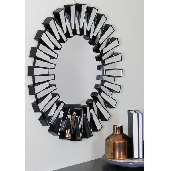 Richards Aztec Inspired Sparkling Sunburst Round Wall Mirror Inside Deniece Sunburst Round Wall Mirrors (#13 of 20)