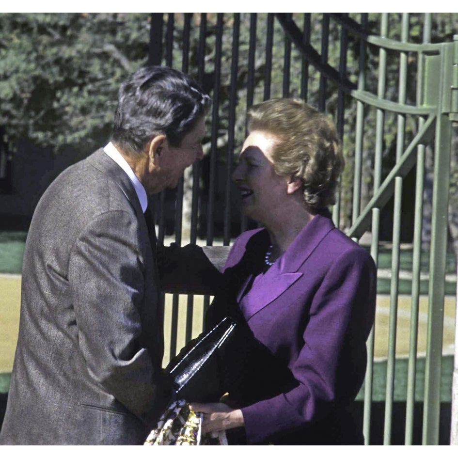 Inspiration about Ronald Reagan Greeting Margaret Thatcher While Being Presented With A Piece  Of The Berlin Wall Photo Print Inside Most Up To Date Thatcher Sideboards (#20 of 20)