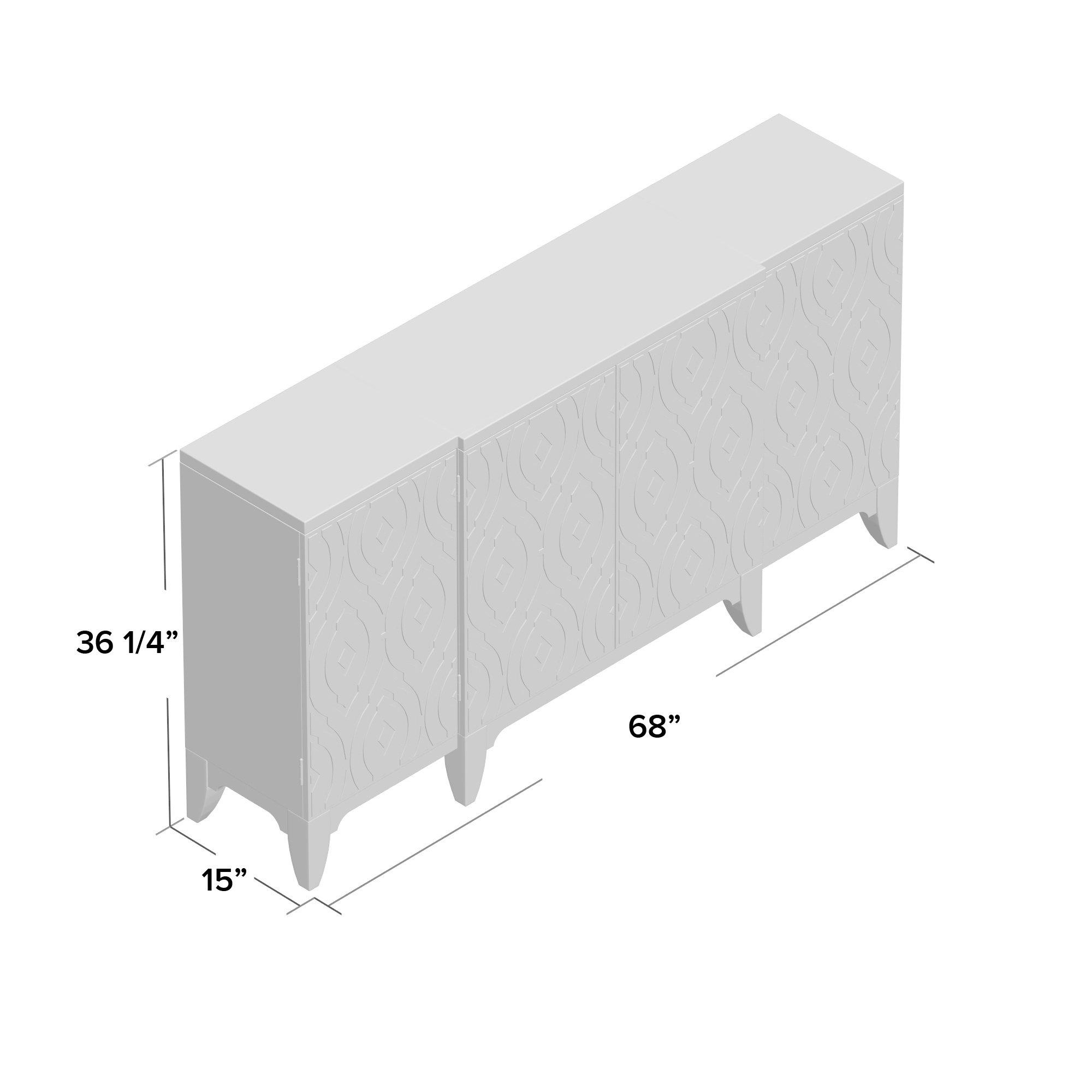 Rosdorf Park Kattie 4 Door Accent Cabinet For 2018 Kattie 4 Door Cabinets (View 9 of 20)