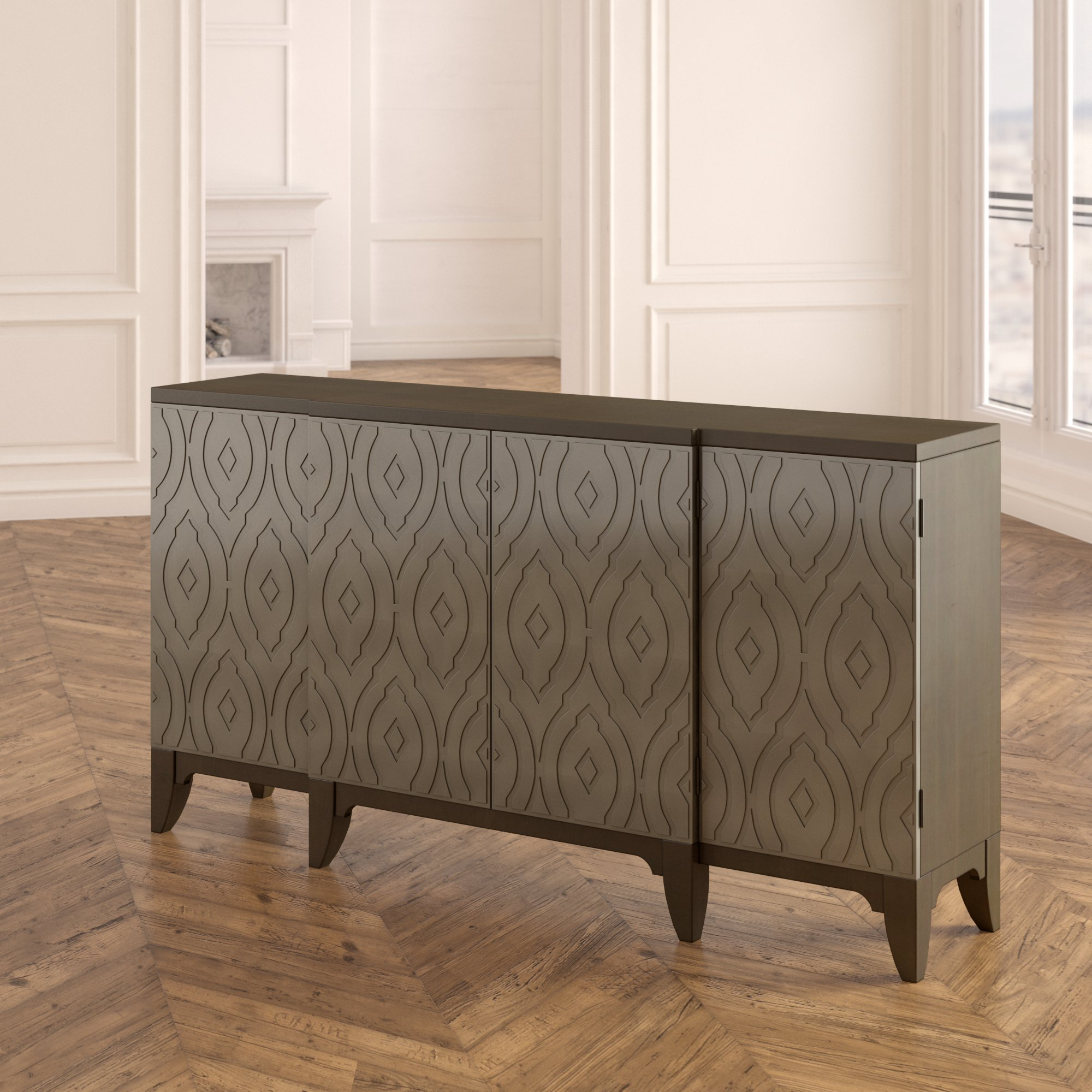 Inspiration about Rosdorf Park Kattie 4 Door Accent Cabinet For Latest Kattie 4 Door Cabinets (#4 of 20)