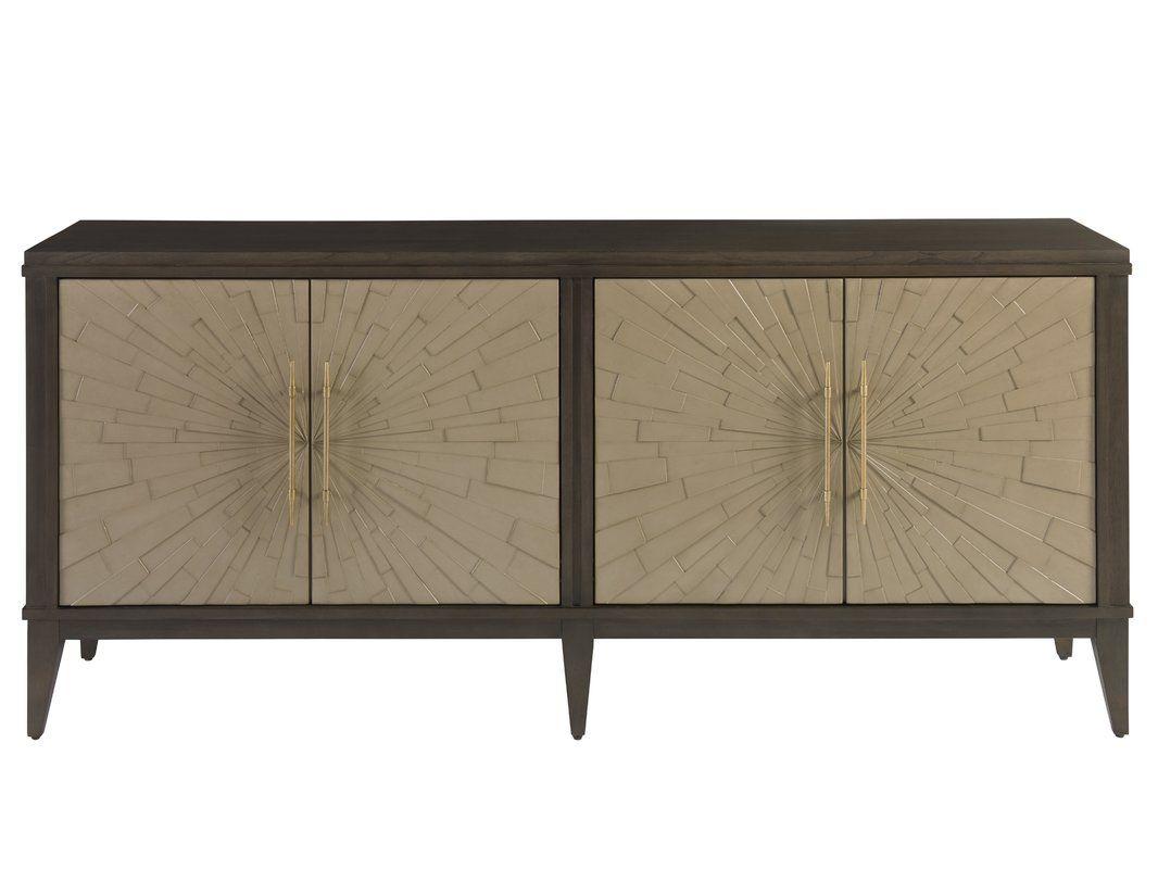 Rosdorf Park Kattie 4 Door Cabinet | Design Notes With Current Kattie 4 Door Cabinets (View 5 of 20)
