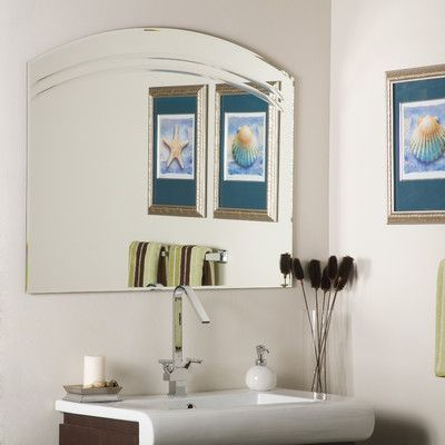 Rosecliff Heights Wallingford Large Frameless Wall Mirror In Wallingford Large Frameless Wall Mirrors (#14 of 20)