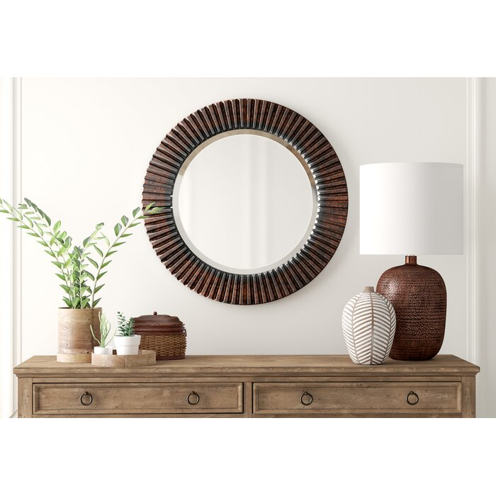 Round Eclectic Accent Mirror Throughout Round Eclectic Accent Mirrors (#13 of 20)