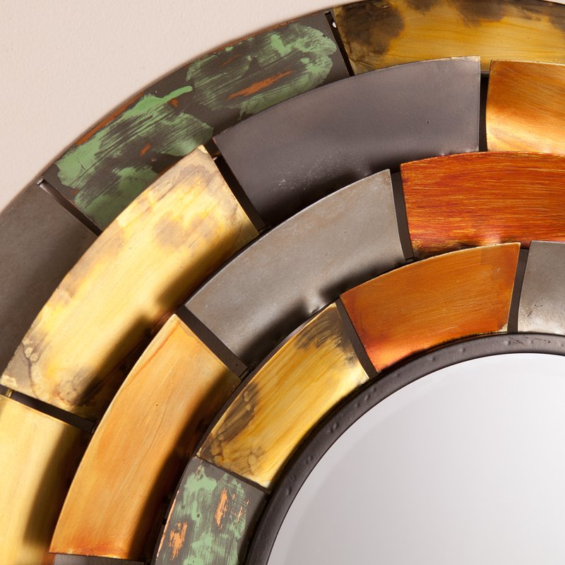 Inspiration about Round Galvanized Metallic Wall Mirror Intended For Round Galvanized Metallic Wall Mirrors (#20 of 20)