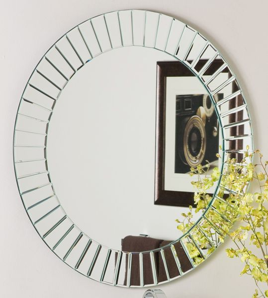 Round Mirror For Entryway | My New Place! In 2019 Intended For Lidya Frameless Beveled Wall Mirrors (#17 of 20)