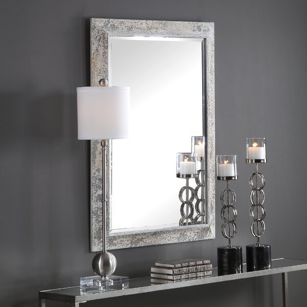 Inspiration about Ruppe Aged Modern And Contemporary Beveled Accent Mirror Throughout Modern & Contemporary Beveled Accent Mirrors (#20 of 20)