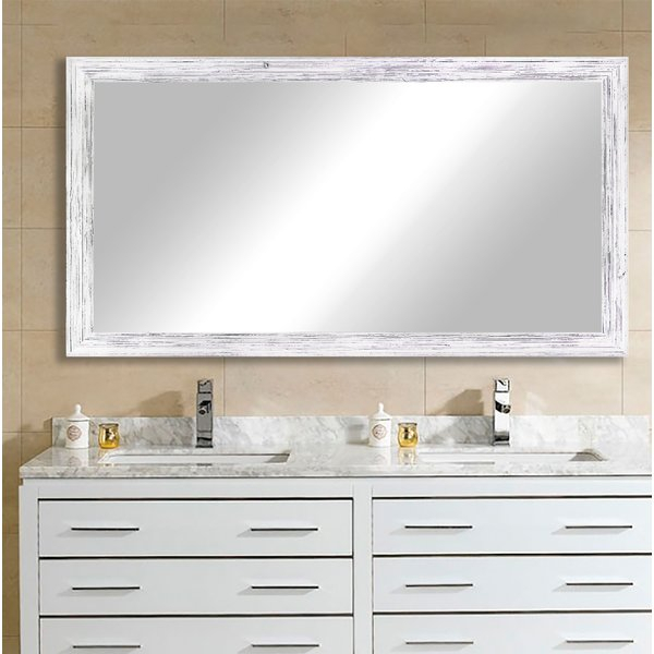 Inspiration about Rustic Bath Mirror | Wayfair Intended For Landover Rustic Distressed Bathroom/vanity Mirrors (#17 of 20)