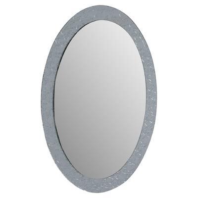Sajish Oval Crystal Wall Mirror For Sajish Oval Crystal Wall Mirrors (View 2 of 20)