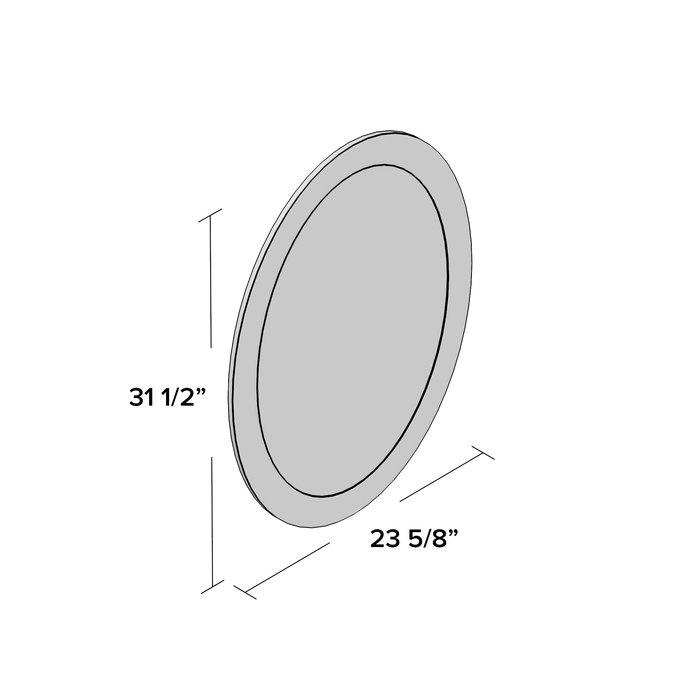 Sajish Oval Crystal Wall Mirror Inside Sajish Oval Crystal Wall Mirrors (View 4 of 20)