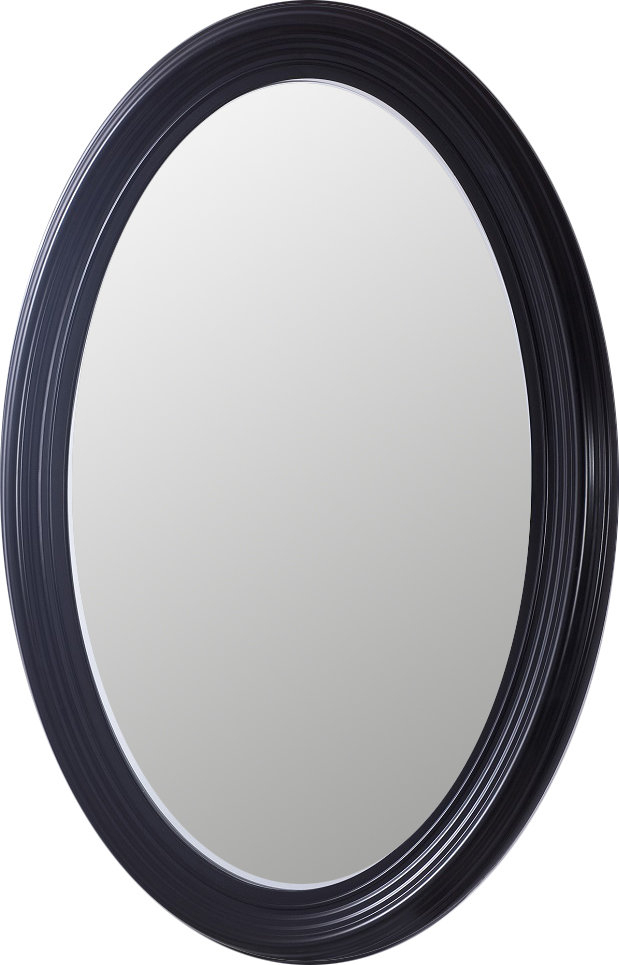 Salamone Oval Pvc Frame Bathroom/vanity Mirror Pertaining To Sajish Oval Crystal Wall Mirrors (#12 of 20)