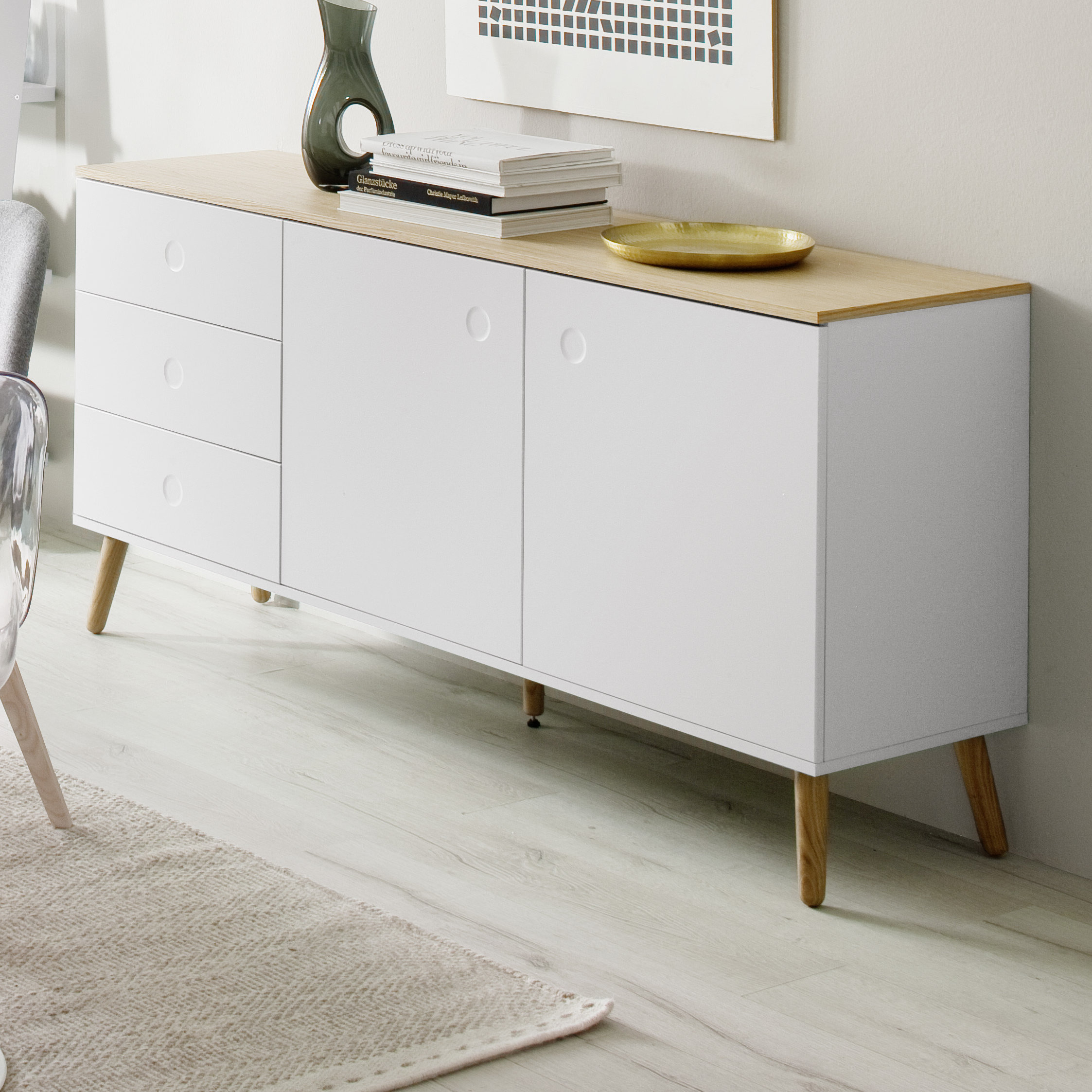 Inspiration about Scandinavian Sideboards & Buffets You'll Love In 2019 Intended For Best And Newest Dowler 2 Drawer Sideboards (#11 of 20)