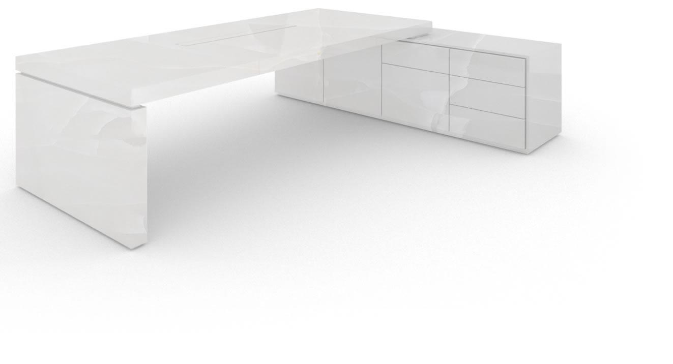 Schreibtisch Iv I, Marmor, Weiß – Felix Schwake Inside Current Cher Sideboards (View 16 of 20)