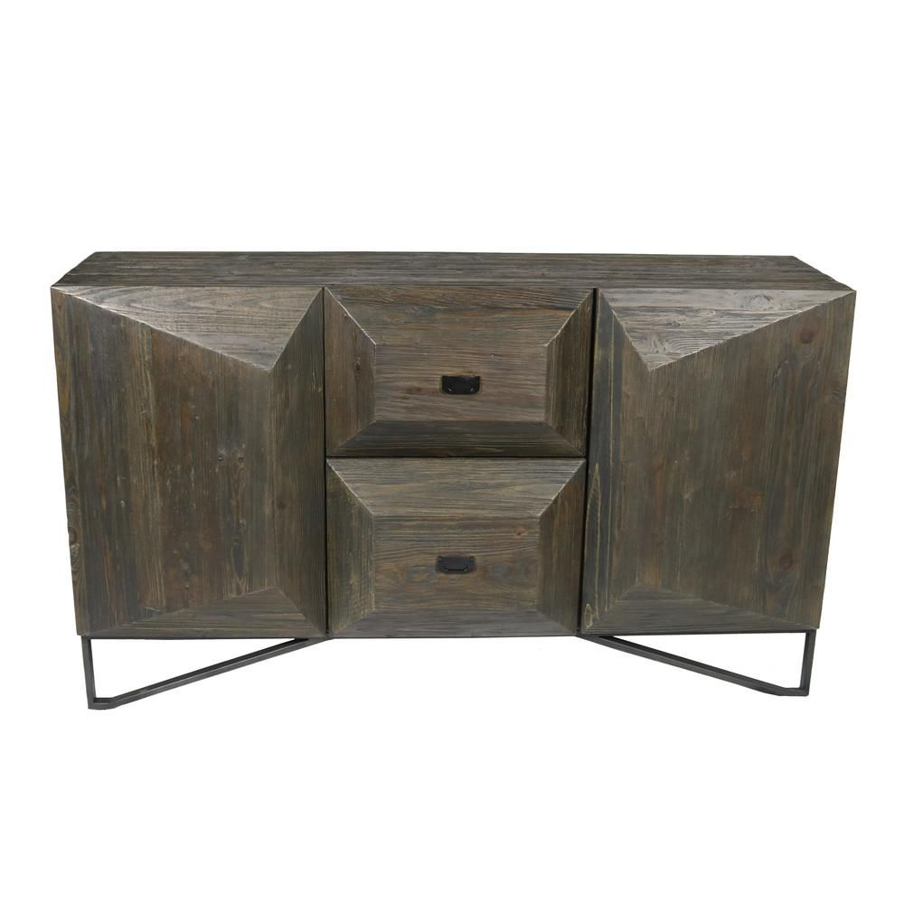 Scrivia Holt 2 Drawer 2 Door Brown Sideboard In 2019 Intended For Newest Sideboards By Foundry Select (View 12 of 20)