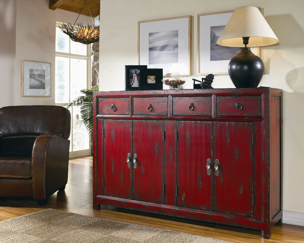 Seven Seas Red Asian Cabinet | Sideboards And Servers Regarding 2018 Seven Seas Asian Sideboards (View 20 of 20)