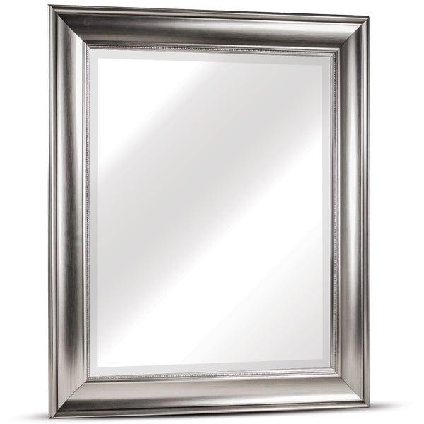 Shop American Art Decor Clarence Medium Rectangular Silver Inside Juliana Accent Mirrors (View 19 of 20)