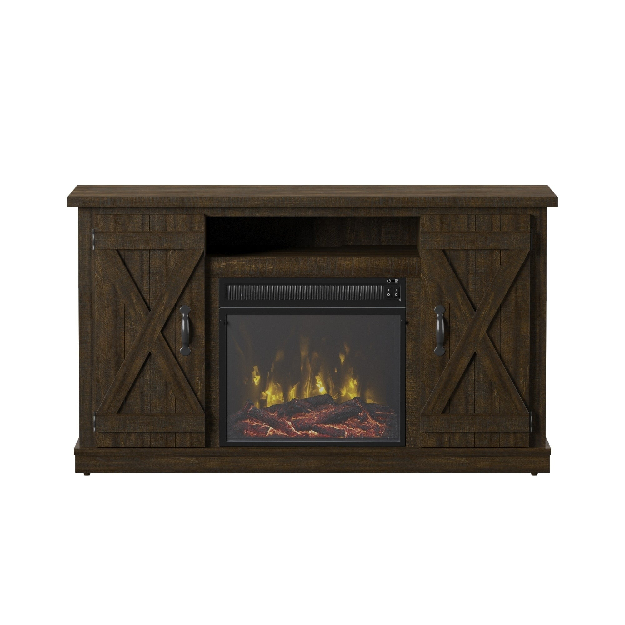 """Shop Cottonwood Tv Stand For Tvs Up To 55"""", Saw Cut Espresso For Most Recently Released Ericka Tv Stands For Tvs Up To 42"""" (#16 of 20)"""