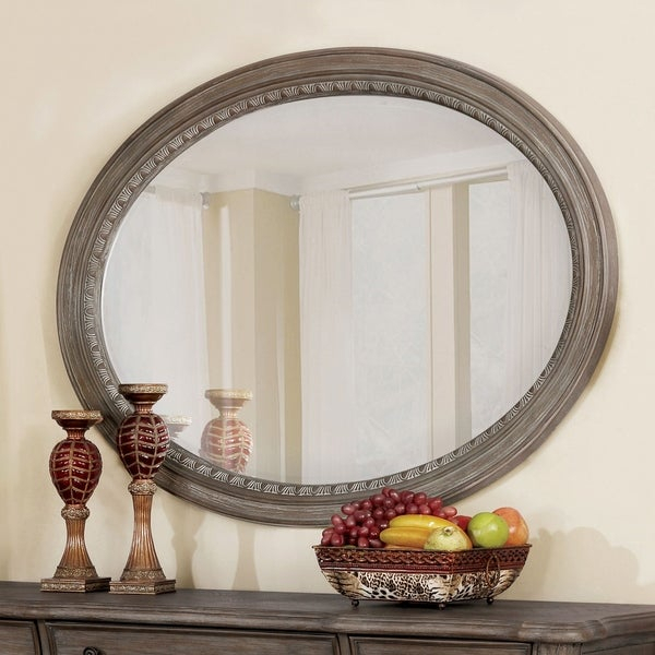 Shop Furniture Of America Amalfi Traditional Oval Accent In Traditional Accent Mirrors (#10 of 20)