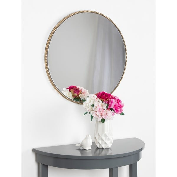 Shop Kate And Laurel Gwendolyn Round Beaded Accent Wall Inside Beaded Accent Wall Mirrors (#19 of 20)