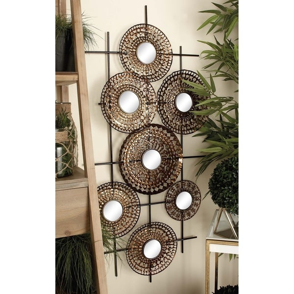 Shop Strick & Bolton Buri Wall Mirror Decor – On Sale – Free Regarding Traditional Metal Wall Mirrors (#8 of 20)