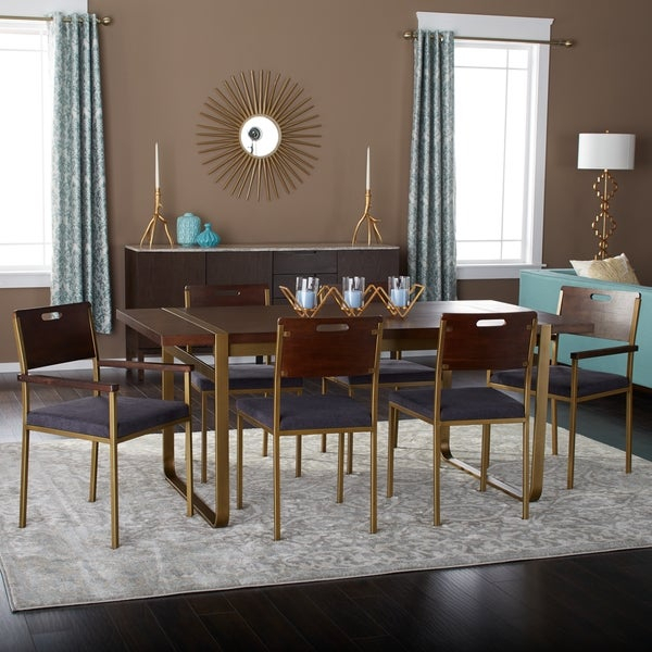 Shop Strick & Bolton Tanner 70 Inch 7 Piece Gold Accent Inside Tanner Accent Mirrors (#4 of 20)