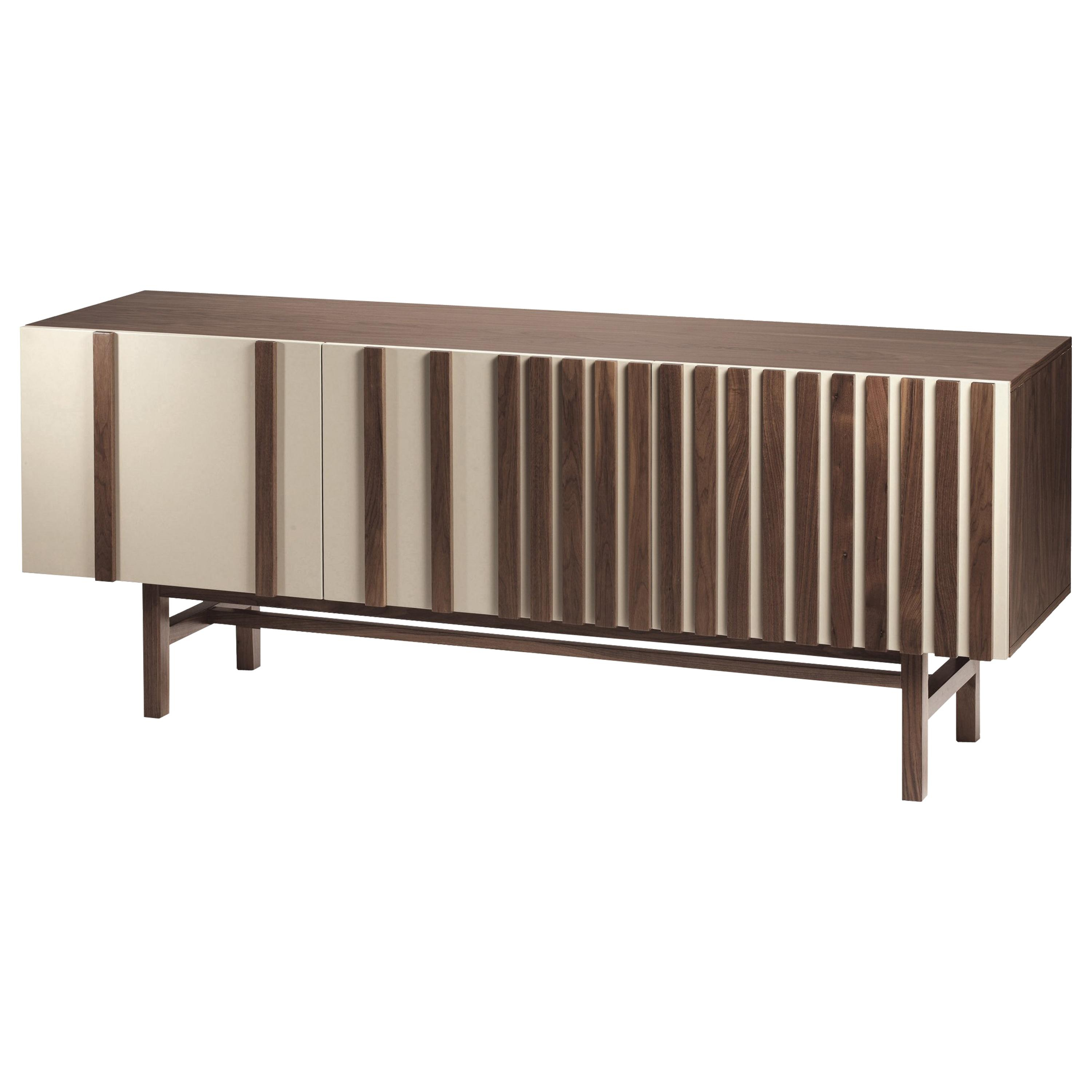 Sideboard Malcolm In Wood, Brass And Marble Intended For Most Up To Date Malcom Buffet Table (View 8 of 20)