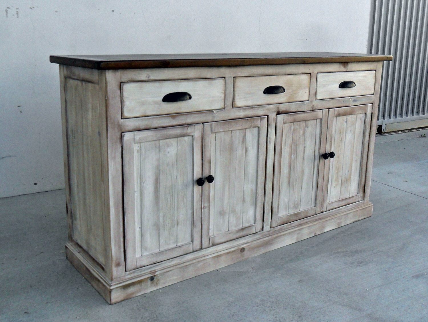 Sideboard, Server, Console Cabinet, Reclaimed Wood, Buffet Intended For Recent Giulia 3 Drawer Credenzas (View 17 of 20)
