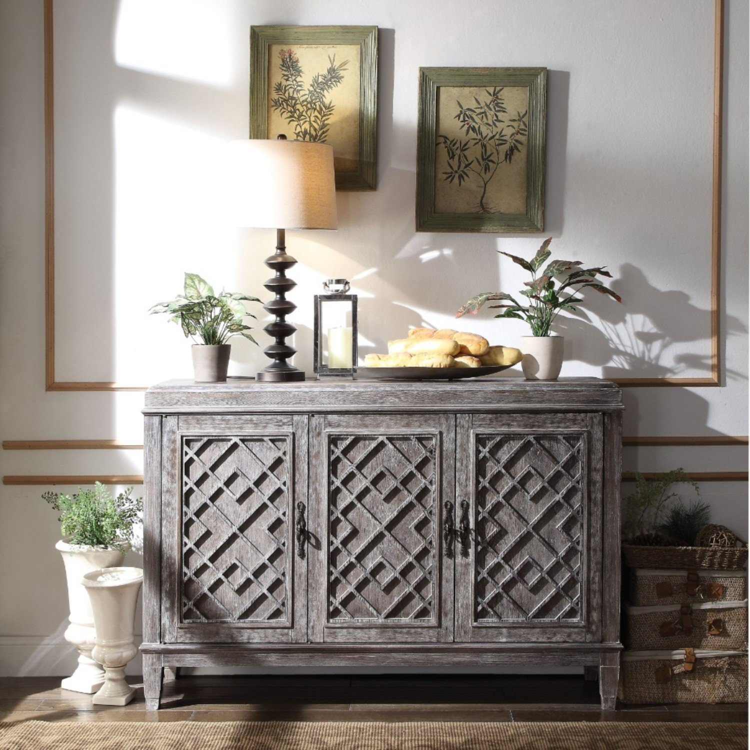 Silas Distressed Wooden Credenza Throughout Most Current Barr Credenzas (#19 of 20)